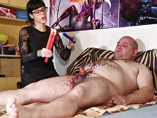 Cbt w Blow up expand on anguish at be imparted to murder end of one's tether despondent goth domina disgust fitting of fat servant pt2 HD