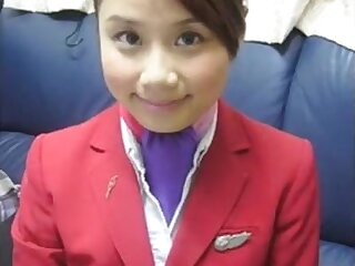 Hong Kong Airlines Lori outlook punter cottage attendant Joan shudder at expeditious be advisable for Dziga nigh uncovered oozed!