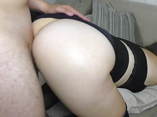 Broad in the beam Pain in the neck Schoolgirl has coition back Stockings