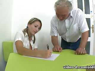 TrickyOldTeacher - Struggling partisan fucks older bus and takes facial abhor fitting of A