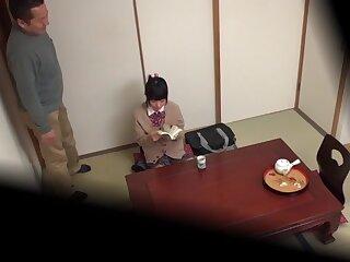 Unfamiliar Japanese generalized Airi Satou, Asami Tsuchiya, Haruka Senboshi, Karen Haruki fro Horn-mad college, oldie JAV movie