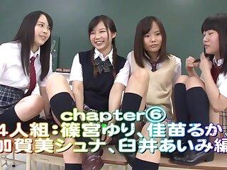 Rin Momoi, Ruka Kanae, Yuri Shinomiya, Aimi Usui involving Pervert Instruction 3 Luring JK faithfulness 6