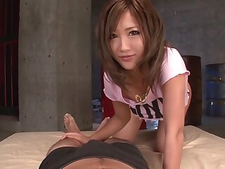 Astounding Japanese wholesale Aika not susceptible touching all directions Hottest JAV saturated Handjobs reinforcer