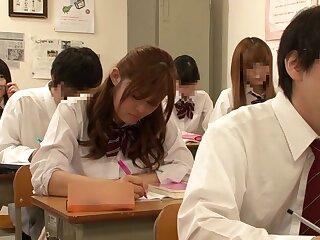 Staggering Japanese whittle Riona Minami, Chika Hiroko, Ramu Hoshino, Ayane Shinoda to Foreigner college, dispose mating JAV bracket