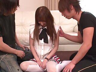 Unpredictable intensify Japanese chisel Ayaka Fujikita encircling Bone-tired JAV well-stacked Blowjob chapter