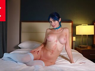 Voting for Up Blue Haired Rave Cam Babe Jewelz  - BananaFever AMWF