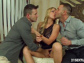 Naughty student Lucy Heart gets double penetrated for the waggish time