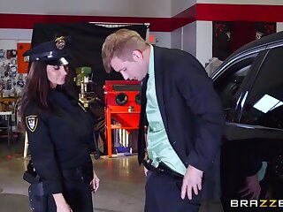 Matured with huge tits, nasty police XXX foreplay